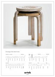 artek ポスター 2ND CYCLE STOOL 60
